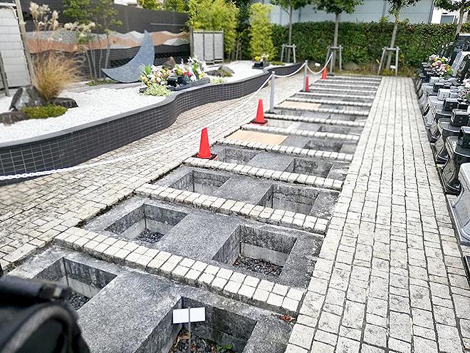 調布霊園の新しい一般墓の区画